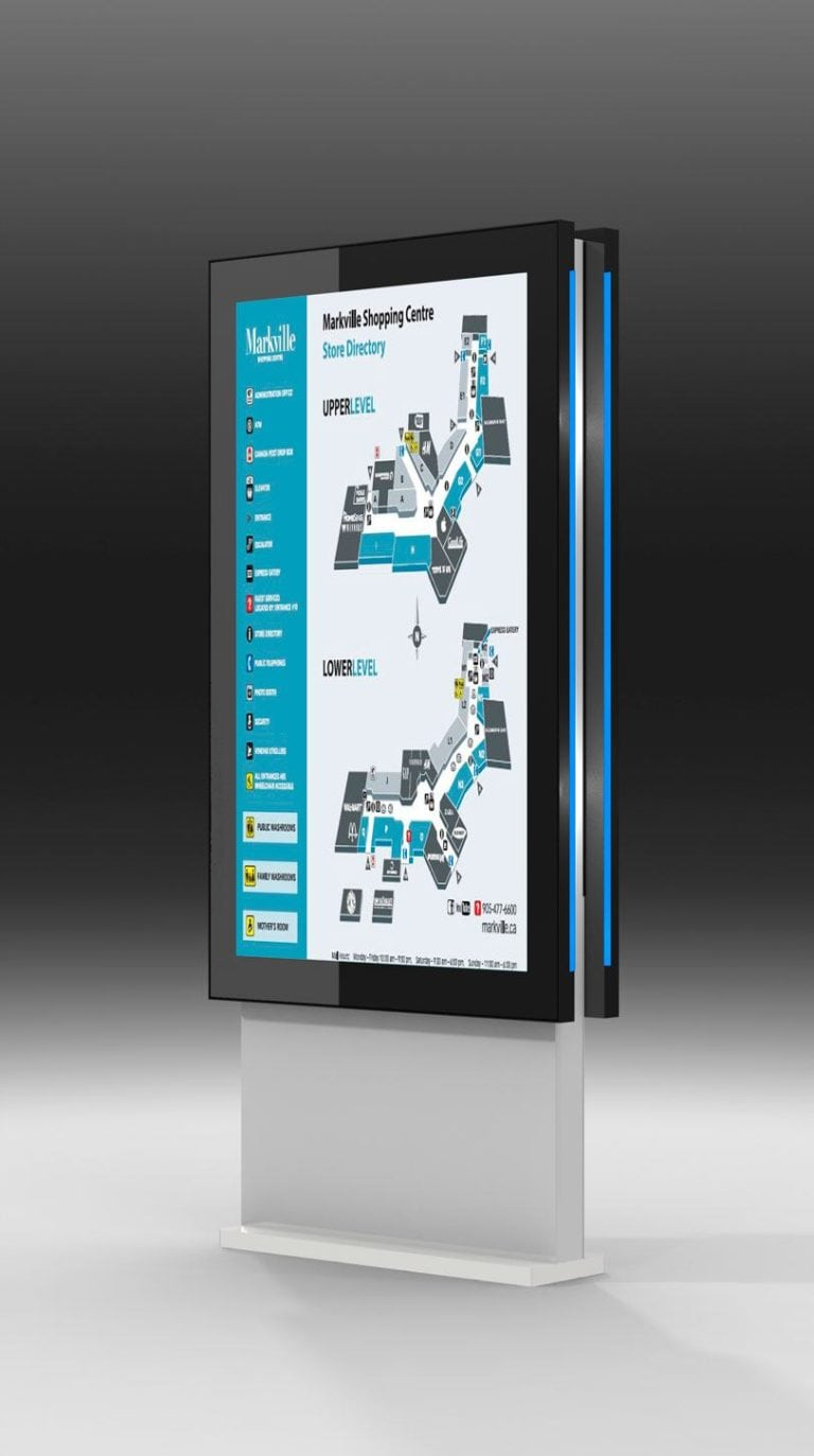 Touch directory battery operated