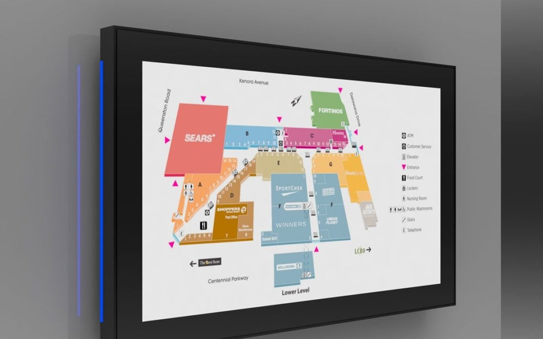 Touch screen portable displays